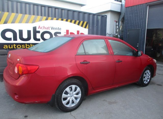 2009 Toyota Corolla ( MANUELLE – 92 000 KM ) complet